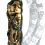 Madre con bambino - Scultura in legno