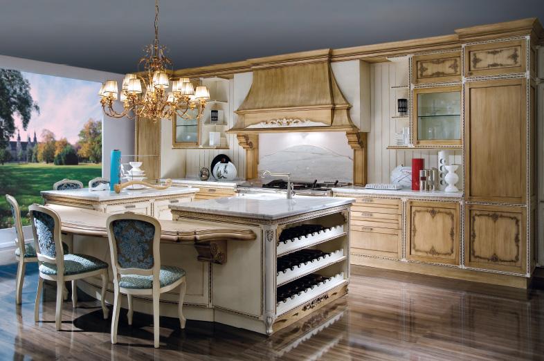 Cucine In Stile Barocco : cucine classiche in legno con eleganti ...